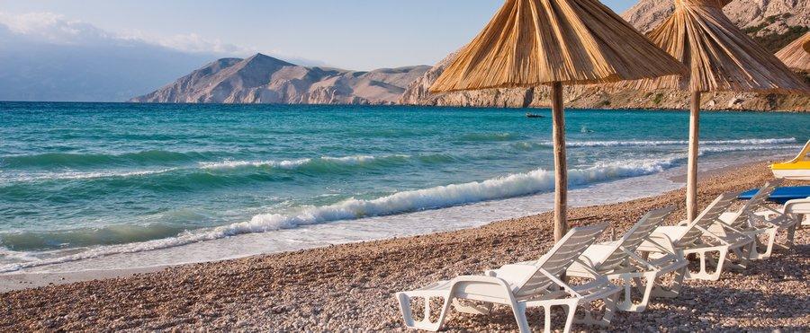 Insel Krk Strand Baska - Hunde im Urlaub erlaubt?